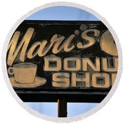 The Old Donut Shop Round Beach Towel