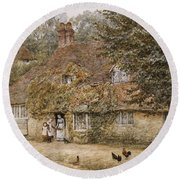 The Old Fish Shop Haslemere Round Beach Towel