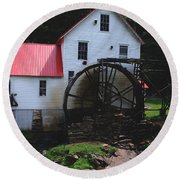 The Old Mill 1886 In Cherokee North Carolina Round Beach Towel