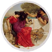 The Old Story Round Beach Towel