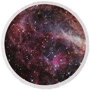 The Omega Nebula Round Beach Towel