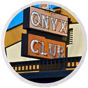 The Onyx Club Round Beach Towel