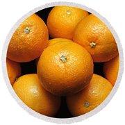 The Oranges Round Beach Towel