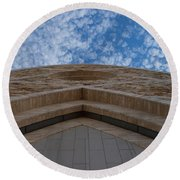 The Oratory Of Ave Maria Round Beach Towel