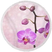 The Orchid Tree - Texture Round Beach Towel