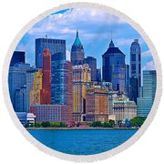 The Other Side Of The City Round Beach Towel