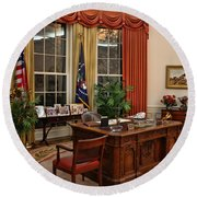The Oval Office Round Beach Towel