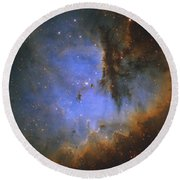 The Pacman Nebula Round Beach Towel by Ken Crawford