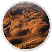 The Painted Dunes Round Beach Towel