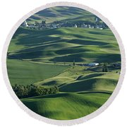 The Palouse 1 Round Beach Towel