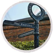 The Pantiles Round Beach Towel