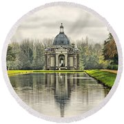 The Pavillion Round Beach Towel by Chris Thaxter
