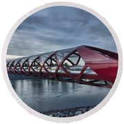 The Peace Bridge Round Beach Towel