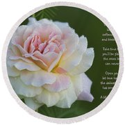 The Peace Rose Round Beach Towel