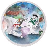 The People From The Troodos Mountains Round Beach Towel