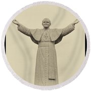 The People's Pope - John Paul II Round Beach Towel by Bill Cannon