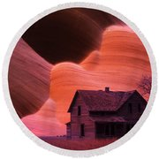 The Perfect Storm Round Beach Towel by Bob Christopher