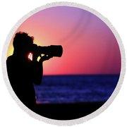 The Photographer Round Beach Towel