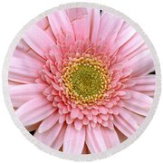 The Pink Flower Round Beach Towel