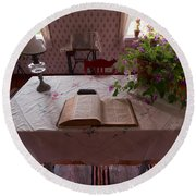 The Place Of The Bible In Kovero Round Beach Towel