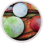 The Planets Round Beach Towel