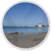 The Point Round Beach Towel