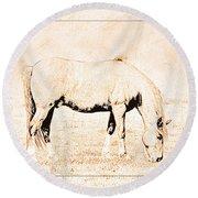 The Pony Round Beach Towel