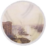 The Pool From The Adelaide Hotel London Bridge Round Beach Towel