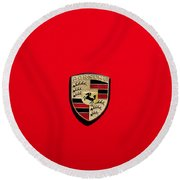 The Porsche Round Beach Towel