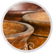 The Potters Terracotta Wares Round Beach Towel