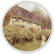 The Priest's House West Hoathly Round Beach Towel