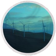 The Promise Of Wind  Round Beach Towel