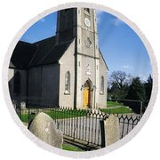 The Protestant Church, Delgany, Co Round Beach Towel
