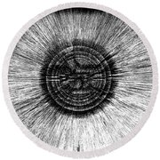 The Pupil Of The Eye Round Beach Towel