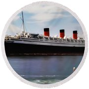 The Queen Mary Round Beach Towel