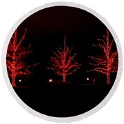 The Red Coat Round Beach Towel