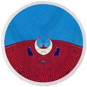 the red dress - Archifou 71 Round Beach Towel