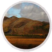 The Richardson Mountains At The Arctic Round Beach Towel