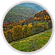 The Road To Glady Wv Painted Round Beach Towel