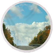 The Road To Heaven Round Beach Towel