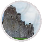 The Rock Of Cashel, Co Tipperary Round Beach Towel
