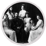 The Romanovs, Russian Tsar With Family Round Beach Towel