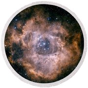 The Rosette Nebula Round Beach Towel