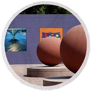 The Rounds Of Pershing Square Round Beach Towel