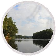The Schuylkill River At West Conshohocken Round Beach Towel