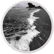 The Sea And The Foam Round Beach Towel