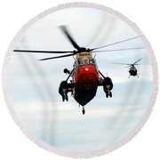 The Sea King Helicopter And The Agusta Round Beach Towel