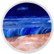 The Sea Round Beach Towel