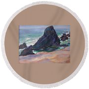 The Seal Rock March Round Beach Towel
