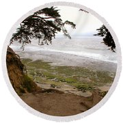 The Sentinels View Of The Ocean Round Beach Towel